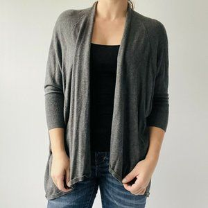 Eileen Fisher Sweater Cardigan Open Front Grey M